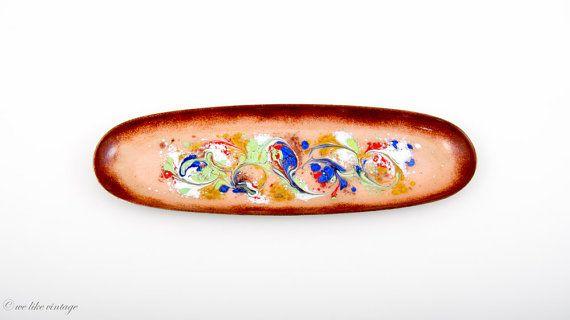Ovale Vintage Schmuck-Schale aus Kupfer