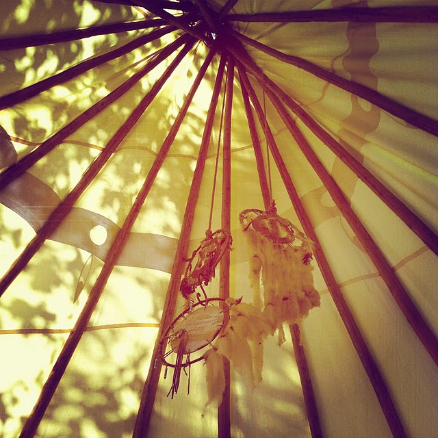 teepee, dreamcatcher, waking up to sunshine - yes please!!