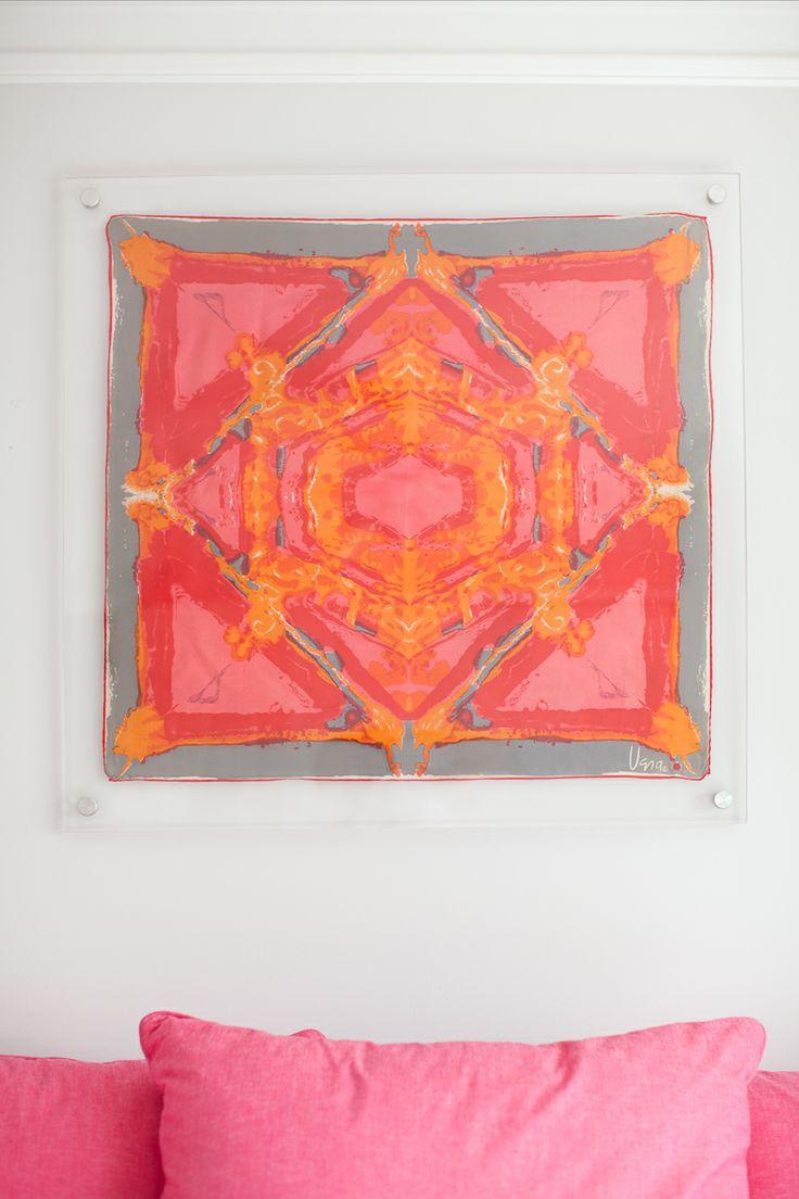 acrylic framed vintage Vera scarf