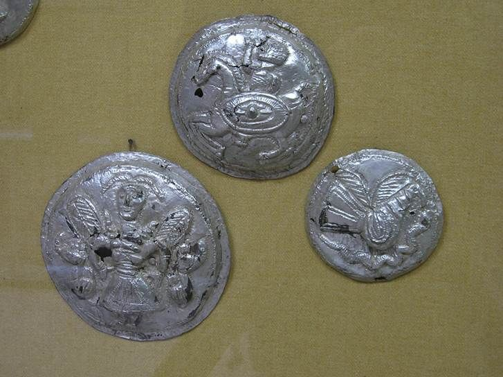 Images with phalerae from the Dacian Silver Treasure found at Lupu, Romania.