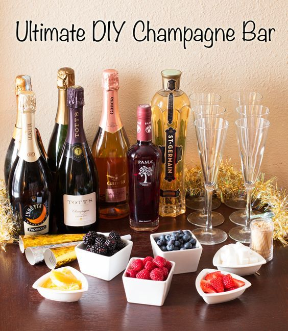 The ultimate festive and creative DIY Champagne Bar for any celebration!