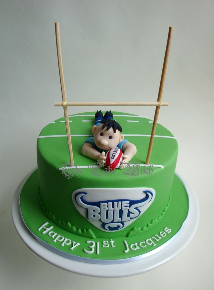Cake Decorating Ideas Rugby : Blue Bulls Rugby Cake The Cake Witch - My Birthday Cakes ...