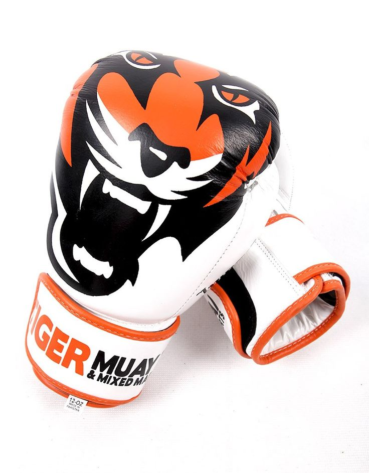 Muay Thai Gloves from the Tiger Muay Thai Signature Serie in White
