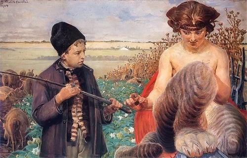 Jacek Malczewski - Shepherd and the Chimera (Pokusa Fortuny)
