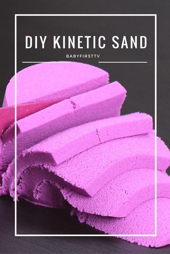 Easiest way to make kinetic sand at home.