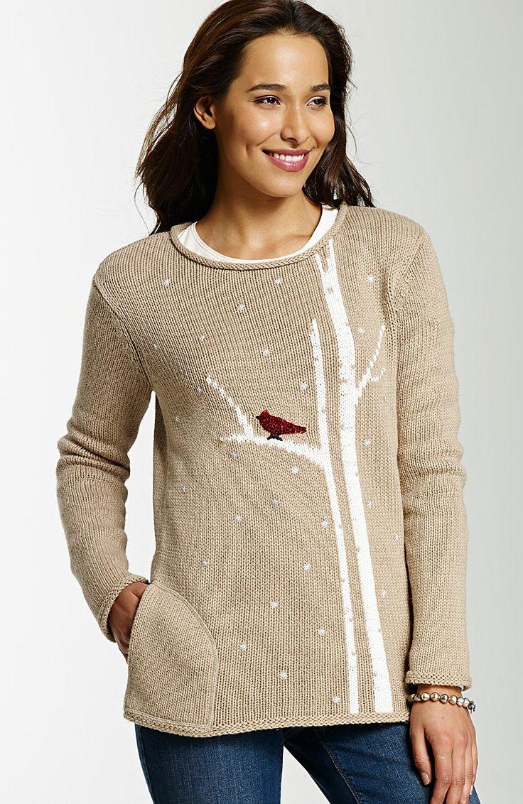 > art & joy cardinal pullover at J.Jill