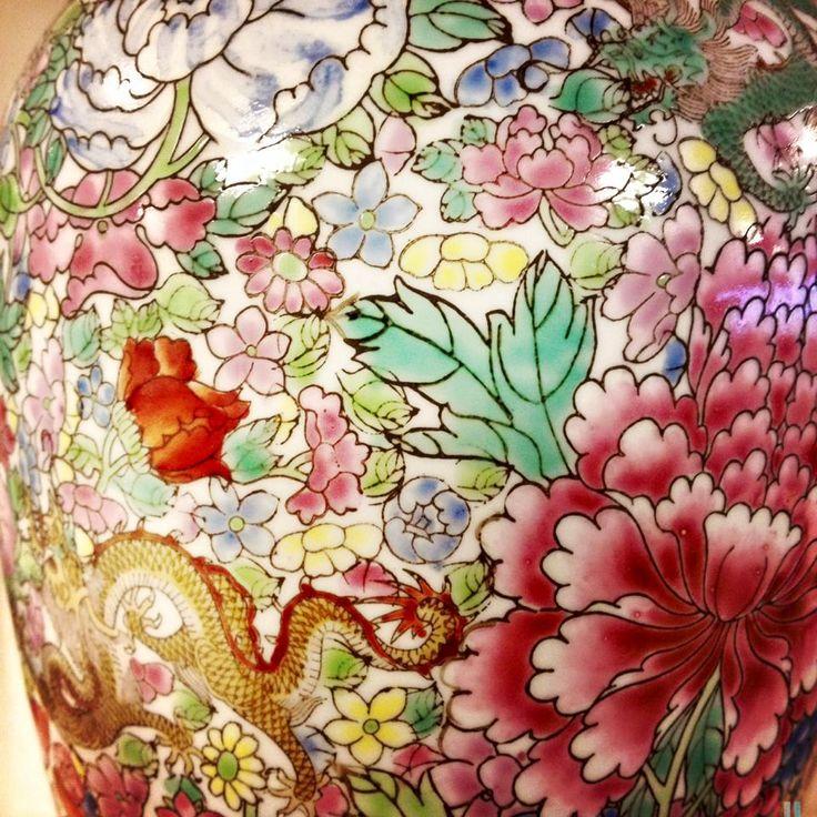 Pattern ceramiche cinesi Flower bomb