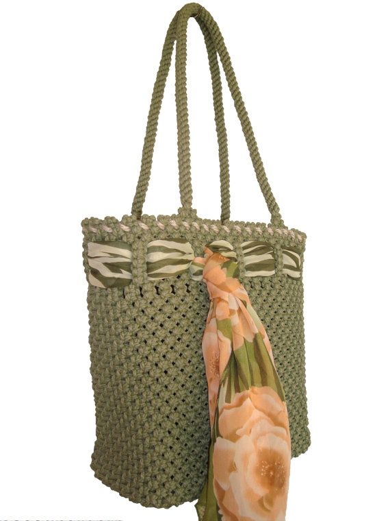 Macrame  Bag by BagsMagicKnots on Etsy, $124.26