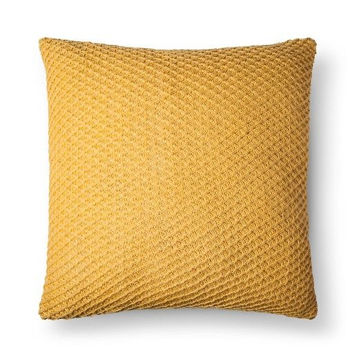 Make sure your sofa pillows have a variety of color, size and texture with the Sweaterknit Oversized Throw Pillow from Threshold. This square accent pillow has a soft sweater-like texture and comes in a solid color.
