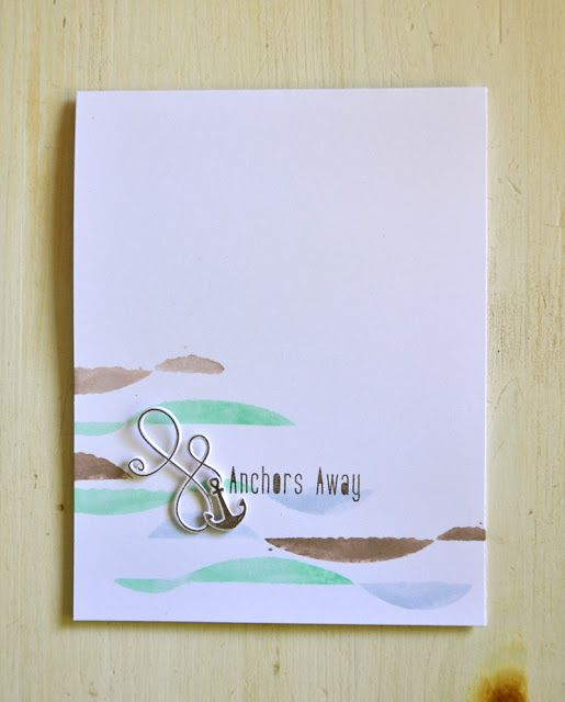 Anchors Away Card by Maile Belles for Papertrey Ink (June 2015)