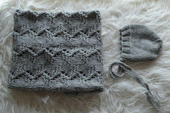 Newborn Set Classic Bonnet Newborn Bonnet by knitbabyclothes, $37.00