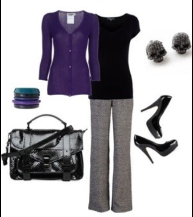 Business Professional Attire for Women | Work | Business Attire - Women... Not those earrings though.