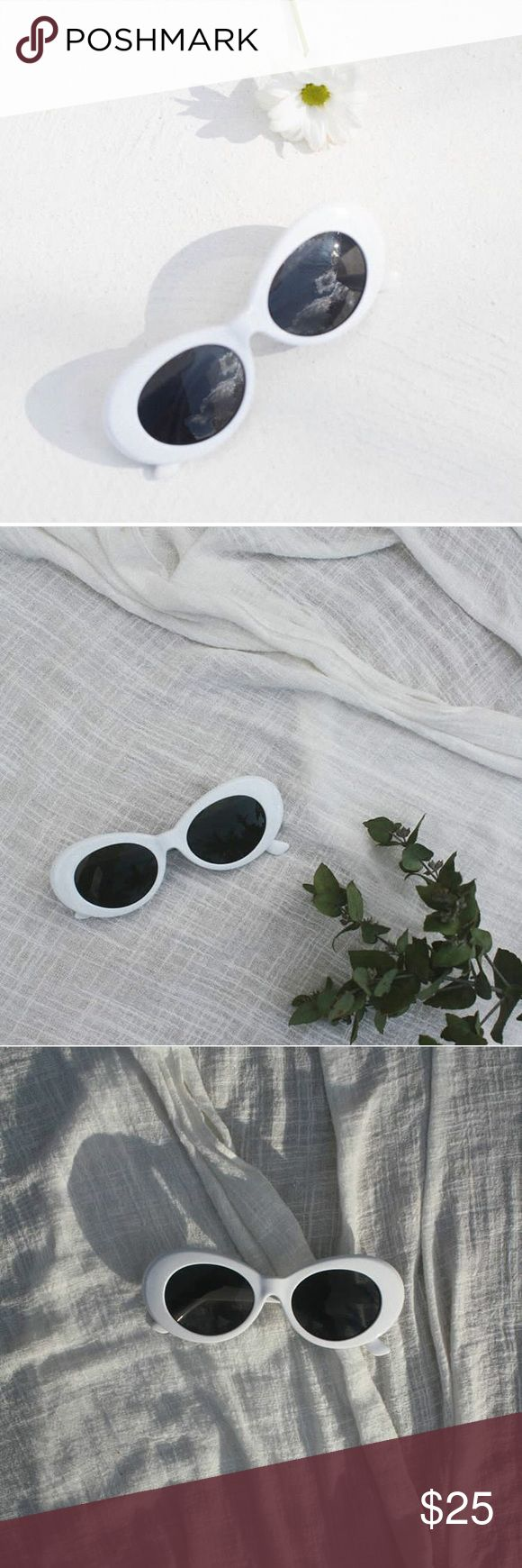White cat eye framed boho trendy summer sunglasses Brand new // not reformed brand //  sunglasses feature polarized lenses and 99% UVA/UVB sun protection //also sold on our website Breathofyouth.com Reformation Accessories Sunglasses