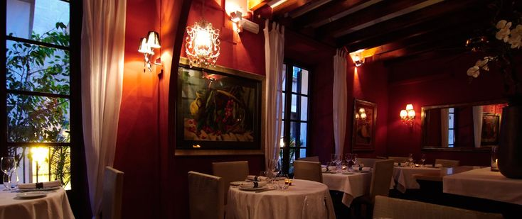 Top Restaurant Palma Red Room | Red Room in Best Palma's Restaurant Forn de Sant Joan.
