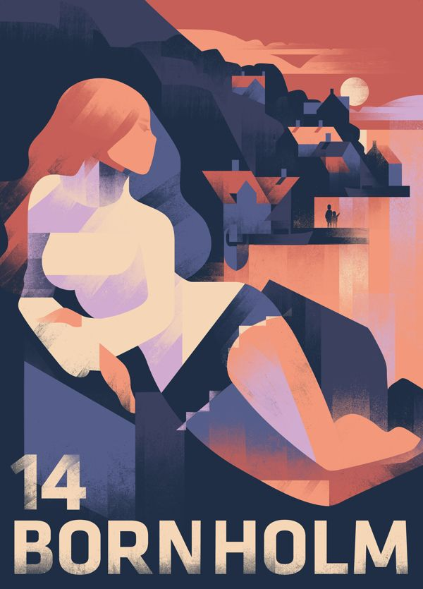 Mads Berg Illustration Bornholm 2014 poster and cover