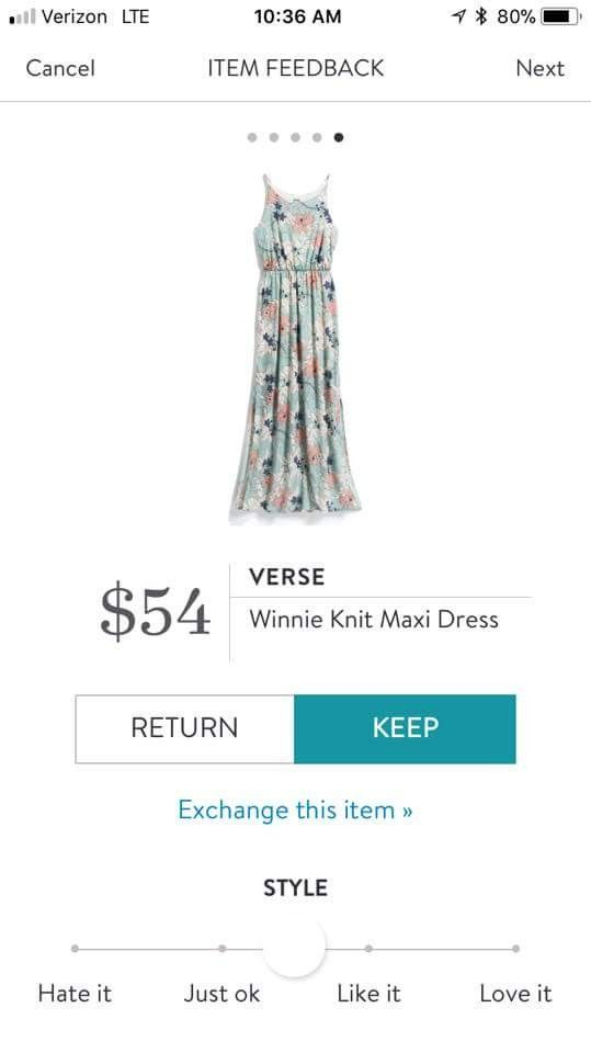 I like a few maxi dresses and this one is pretty.  I could put a cardigan on and wear it to work.