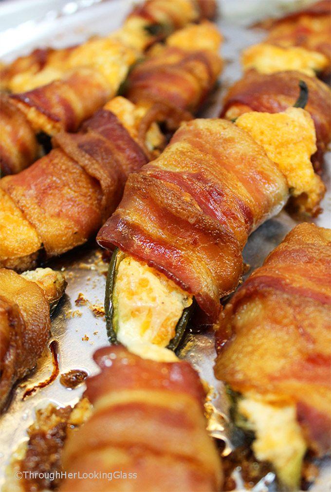 Scrumptious Bacon Wrapped Stuffed Jalapenos Keto Low Carb