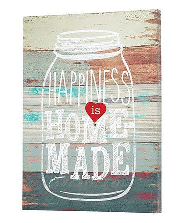 Loving this 'Happiness is Homemade' Canvas on #zulily! #zulilyfinds