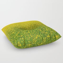 Mustard Field (of Yellow and Green) Floor Pillow