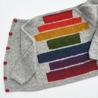 En deilig helårsjakke som strikkes i ett stykke, helt uten montering!