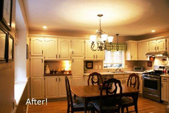 Before After Sharon 39 S Kitchen Makeover On A Budget Kitchen Soffit And Kitchens