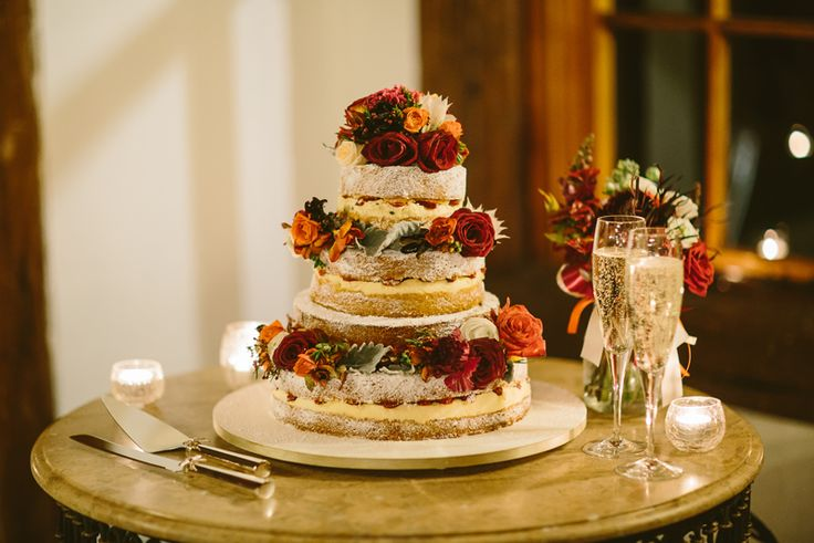 Naked wedding cake, fresh flower toppers. Image: Cavanagh Photography http://cavanaghphotography.com.au