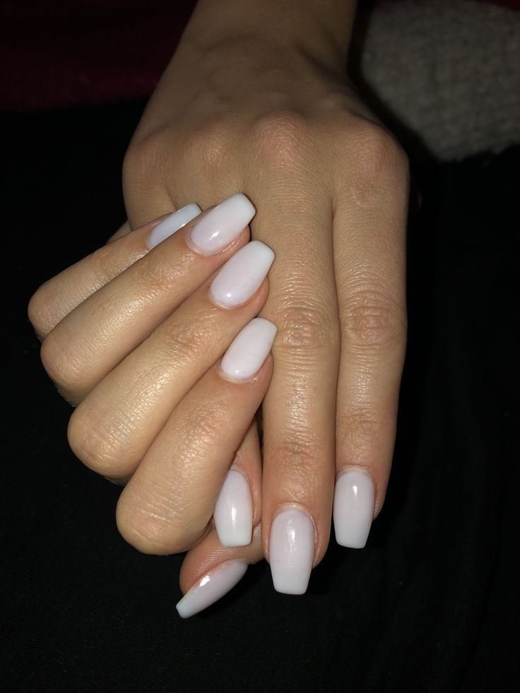 Natural white gel nail art # nail art # gel # gellook # white # nail design # nailar