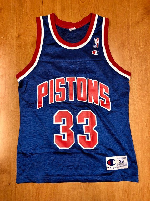 wholesale dealer 16605 75187 Vintage 1994 - 1995 Grant Hill Detroit Pistons Champion ...