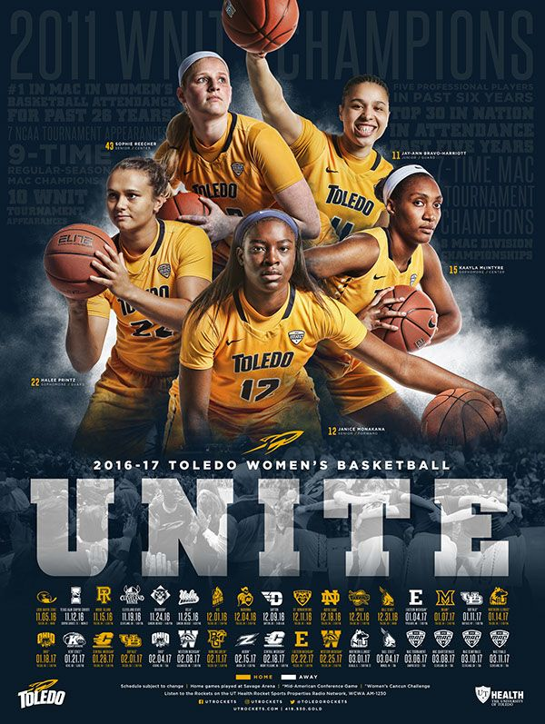 2016-17 Toledo Rockets Women's Basketball Schedule Poster