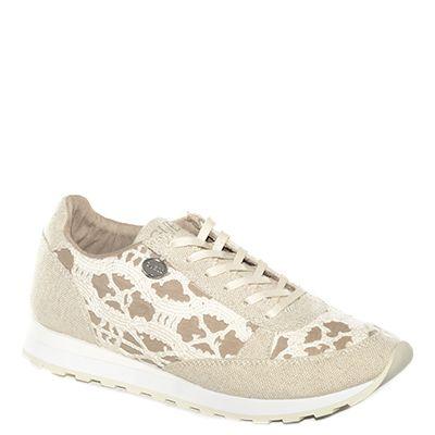 #Sneaker lavorata in tessuto beige di #Guess  http://www.tentazioneshop.it/guess/sneaker-glory-beige-guess.html