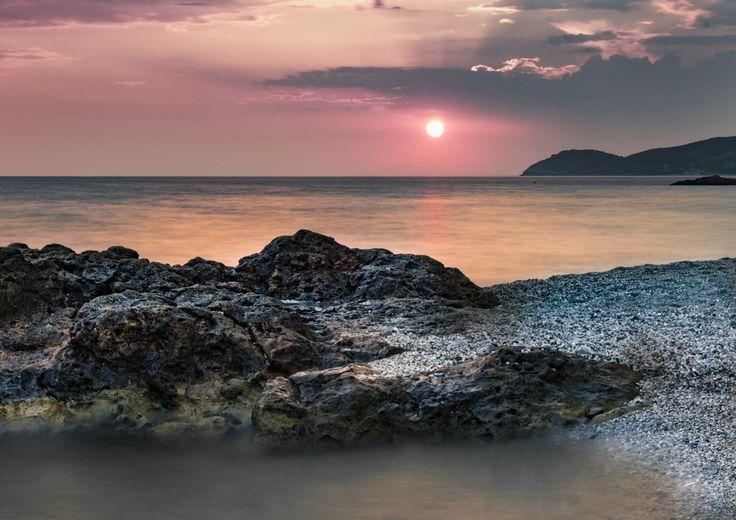 long exposure beach sunset