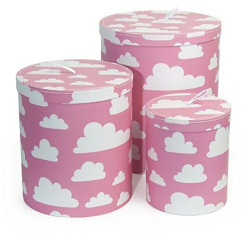 Färg&Form opbergdozen roze wolken