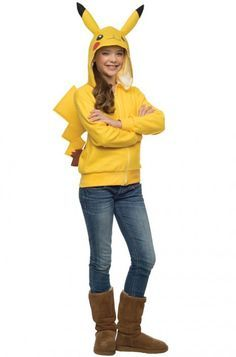 Pikachu Hoodie Tween Costume #pokemon #Halloween #costumes