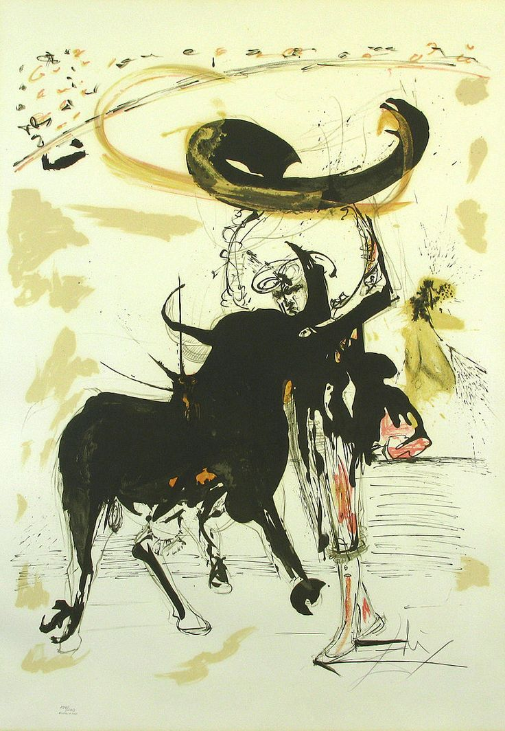 Salvador Dali, Bullfight #2
