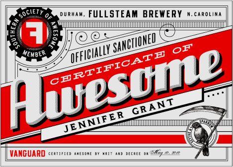 certificate of AWESOMECertificate Design, Graphics Design, Gift Certificate, Certificate Inspiration, Inspiration Design