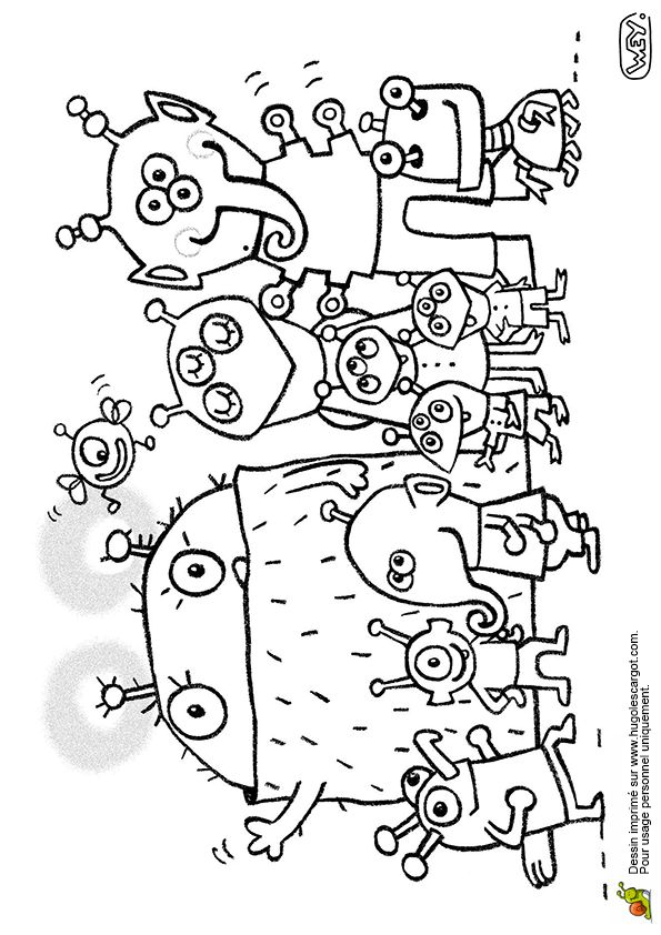 Pin coloriage du fils extraterrestre on pinterest - Coloriage extraterrestre ...