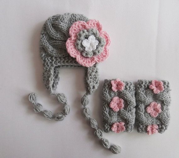 Newborn OutFit Baby Girl OutFit   Baby Girl Hat by KnittingLand, $30.50