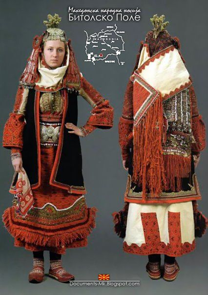 Traditional costume of Bitolsko Pole, Macedonia