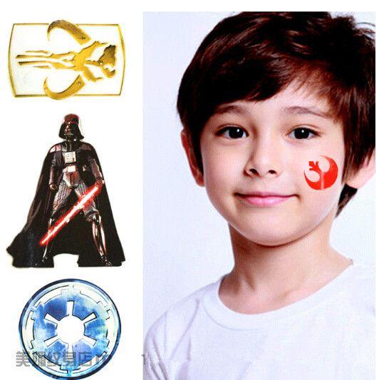 2sheets Tatuagem Temporary Tattoo Sticker Movie Star Wars The Avengers Superhero Design for Kids Body Art Skin Marker