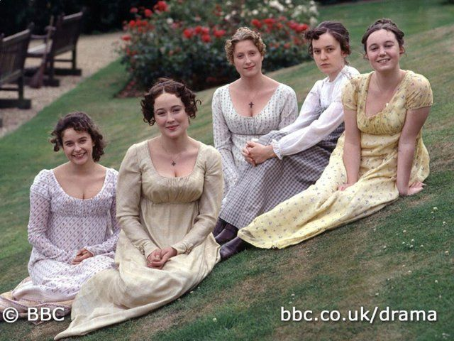 Still of Jennifer Ehle, Lucy Briers, Susannah Harker, Polly Maberly and Julia Sawalha in Pride and Prejudice