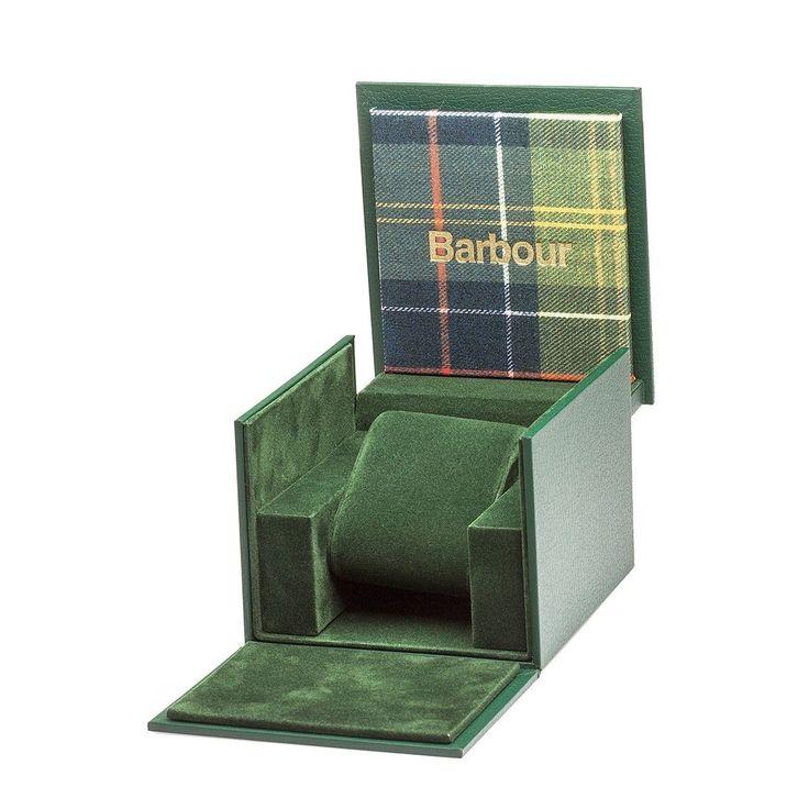 Montre Barbour Glysdale Bracelet Toile De Coton Et Cuir Véritable – Taille : Taille Unique