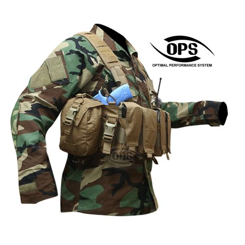 OPS ENHANCED COMBAT CHEST RIG : OPS ENHANCED COMBAT CHEST RIG IN COYOTE BROWN