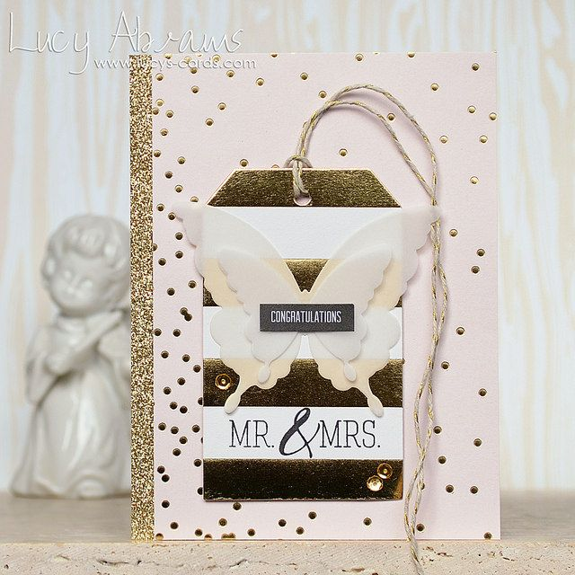Mr and Mrs by Lucy Abrams using the May 2015 card kit by Simon Says Stamp.