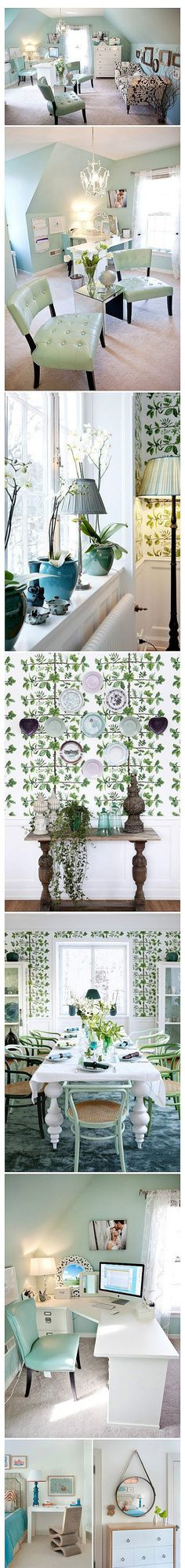 Green mint decor, good for summer.