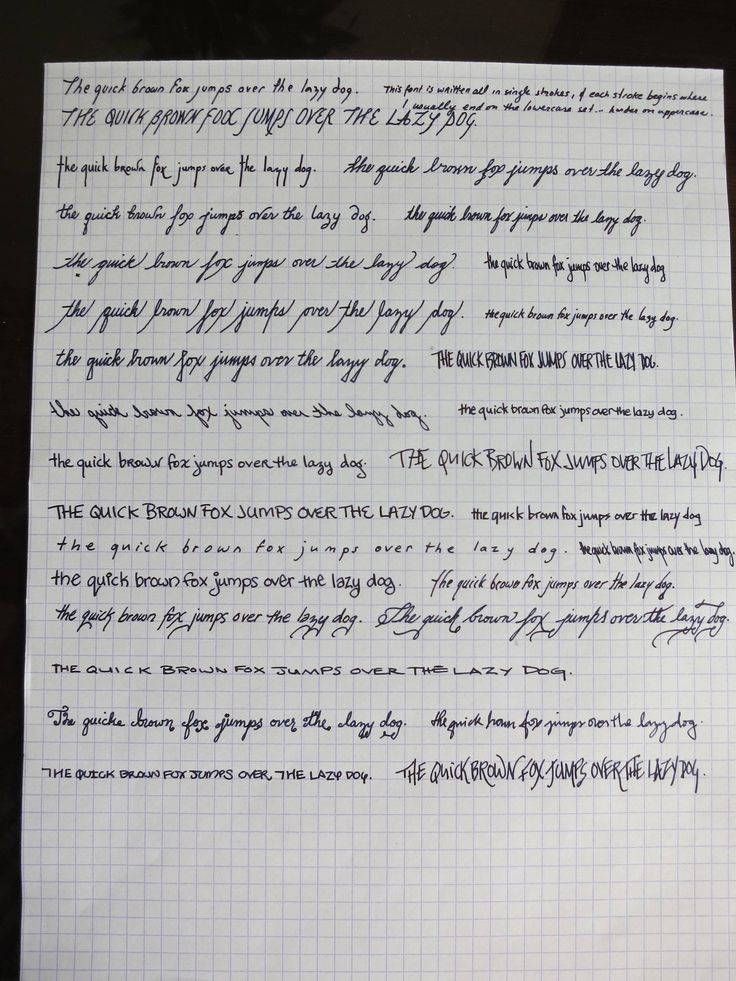 This girl's handwriting is the coolest thing I've seen all week. - Imgur