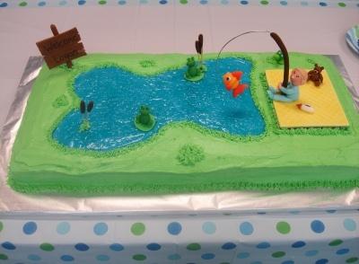 Fishing Themed Baby Shower Cake Adorableu003c3