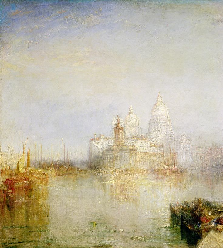 The Dogana And Santa Maria Della Salute Venice Painting by Joseph Mallord William Turner