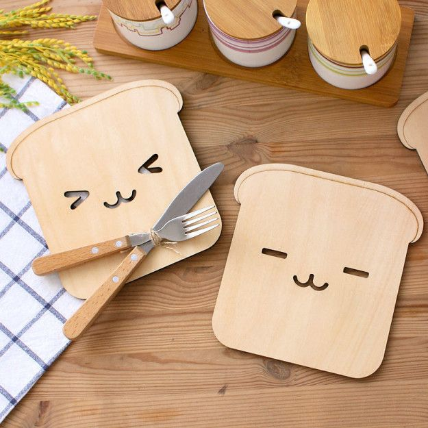 These bread-shaped trivets will protect your table and look so damn cute at the same time.