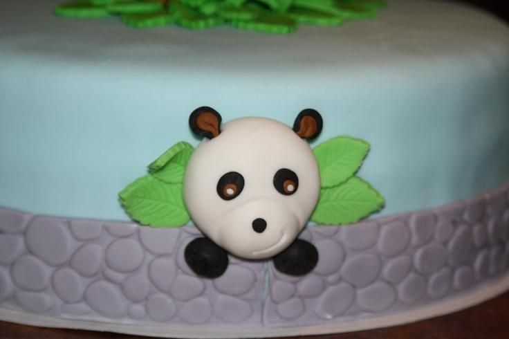 Detail dierentuin taart