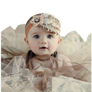 Brown Feather Headband, #babyheadbands